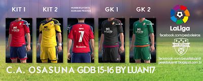 PES 2013 C.A. Osasuna GDB 15-16 by Luan17
