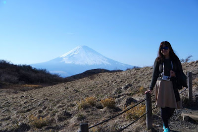 The view of Mount Fuji from Mount Komagatake