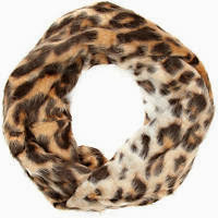 River Island Brown Leopard Print Faux Fur Snood