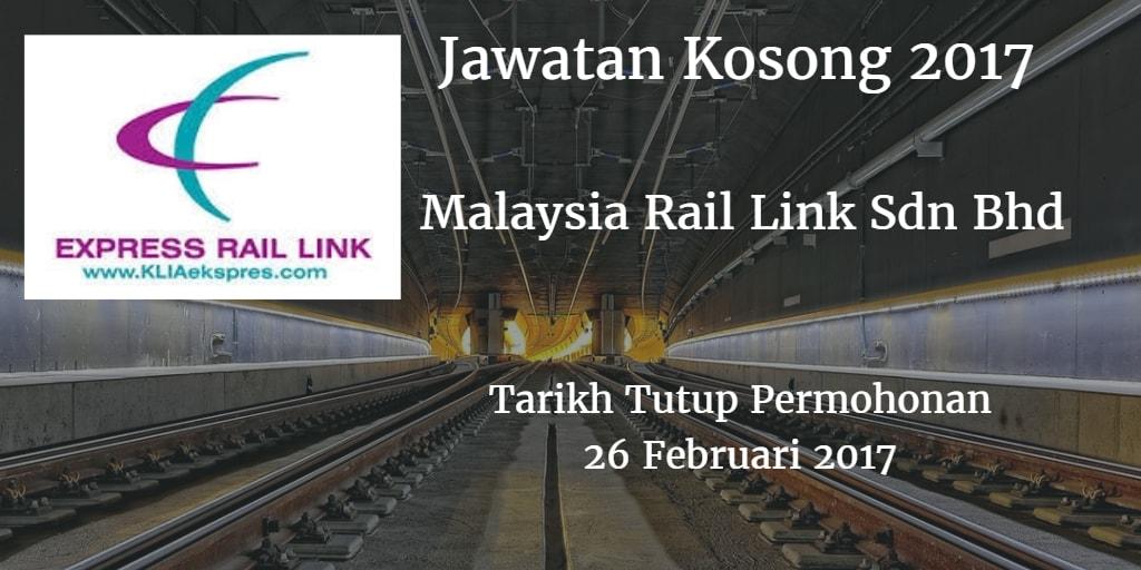Jawatan Kosong MRL 26 Februari 2017