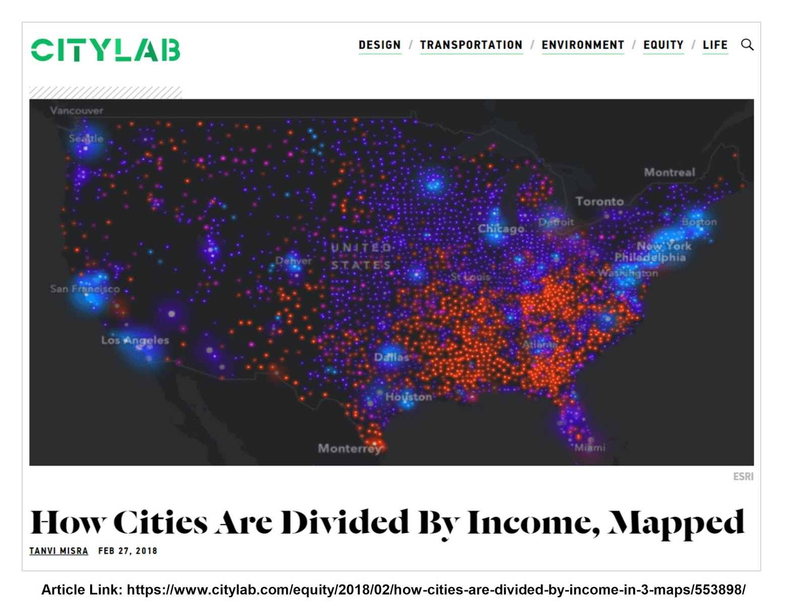 mapping income levels and population changes