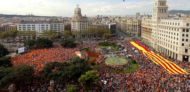 Diada Nacional em Barcelona