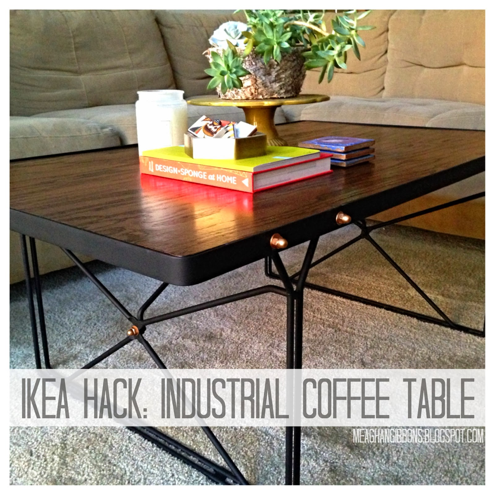 for a song: DIY [industrial coffee table reveal]