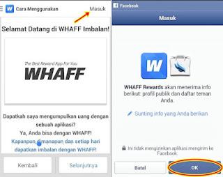 cara masuk whaff rewards lewat facebook