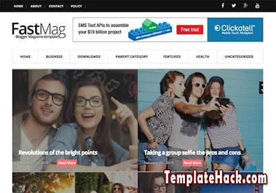 fast mag blogger template premium