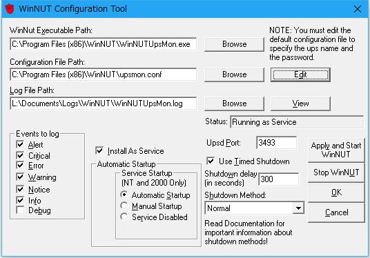 WinNUT Configuration Tool