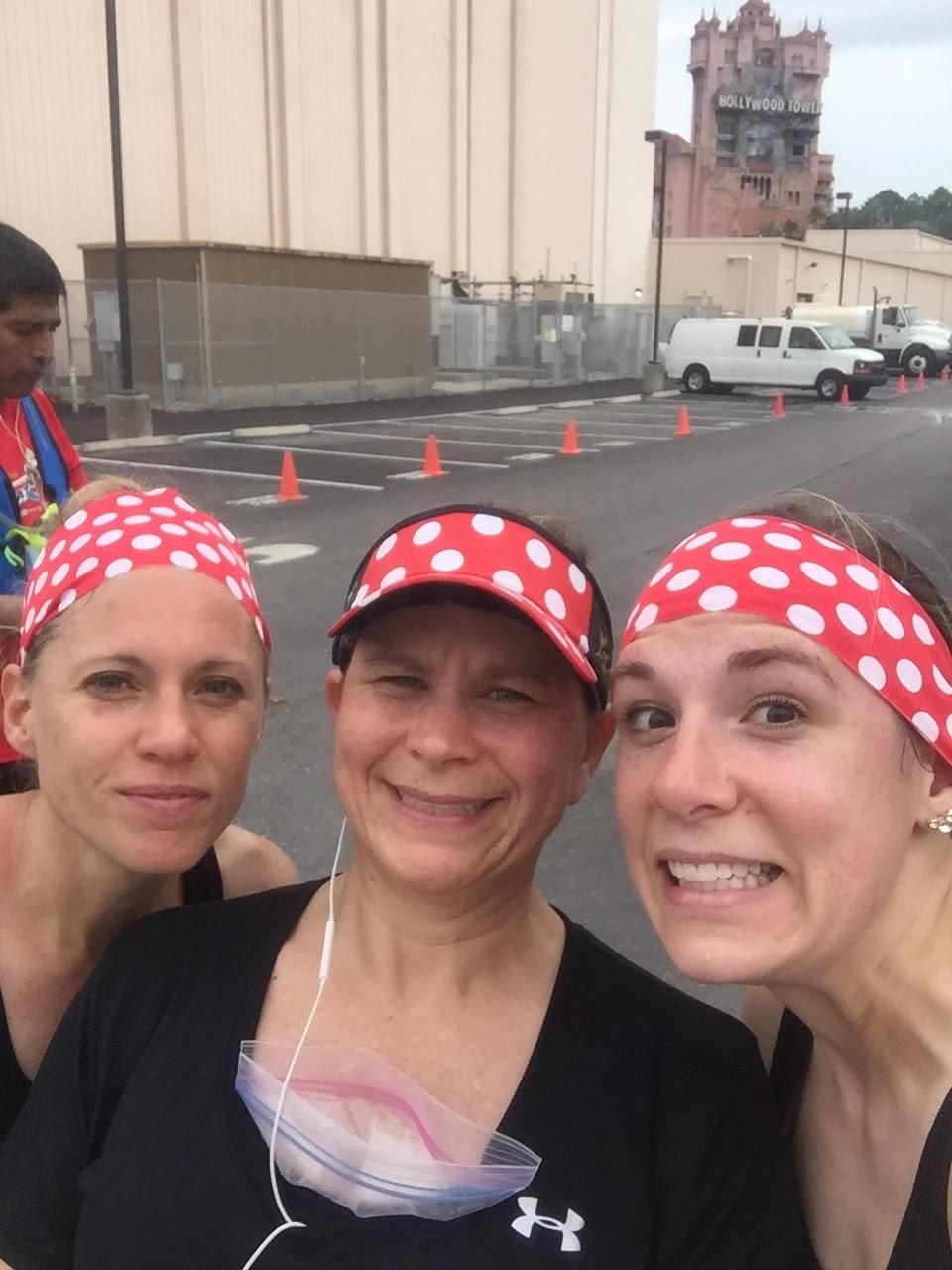 Dopey Challenge Mickey Marathon 2016 Tower of Terror in the background