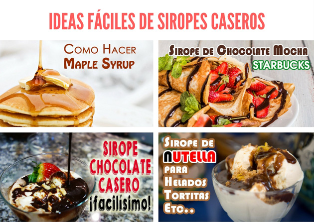 ideas fáciles de siropes para tortitas, batidos, helados y cócteles