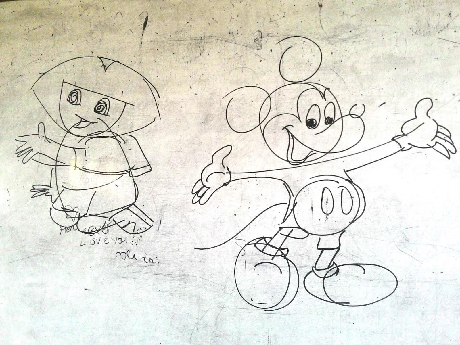 Teknik Menggambar Mickey Mouse Dan Dora Seni Budaya Gambar