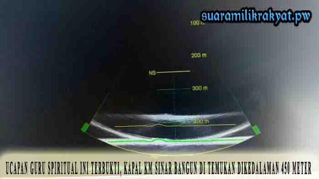 Ucapan Guru Spiritual Ini Terbukti, Kapal KM Sinar bangun Di Temukan Dikedalaman 450 Meter
