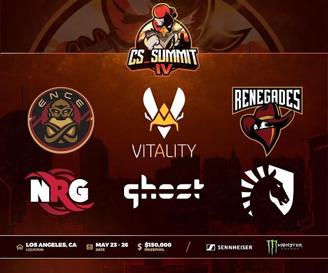 賞金総額15万ドル「cs_summit 4」が5月23日~26日にかけて開催、Liquid、ENCE、Vitality、Renegades等のチームが招待出場