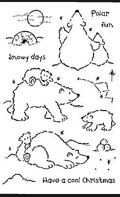silverwolf cards polar bear christmas cards