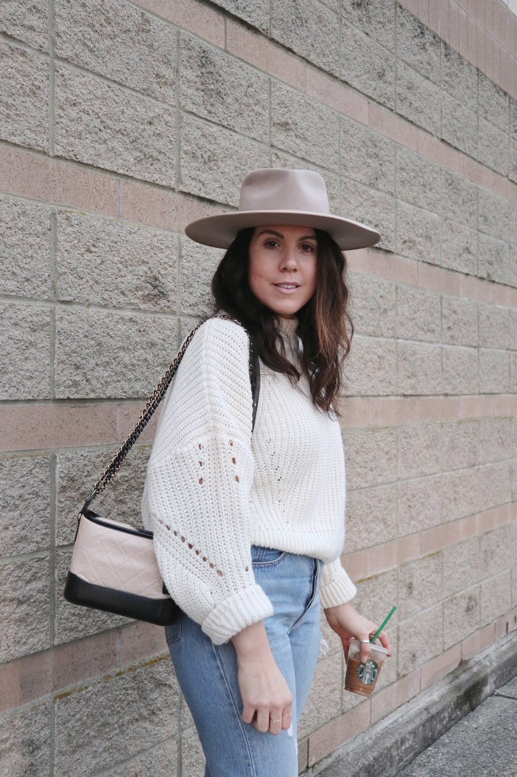 lack of color rancher hat vancouver fashion blogger cute beige outfit
