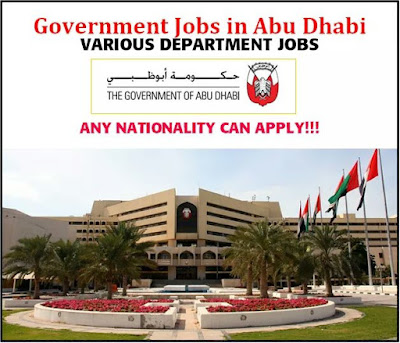 ABU DHABI GOVERNMENT LATEST JOBS IN UAE