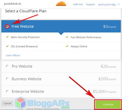 Memdapatkan SSL Gratis di Cloudflare