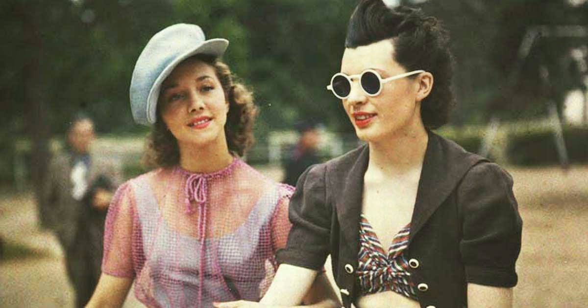 Rare Color Photos of Parisian Women From Between the 1930s and 1940s