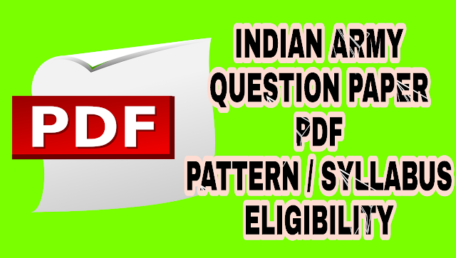 Indian army written questions paper pdf download