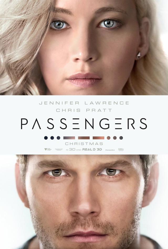 クリス・プラット&ジェニファー・ローレンス主演SFロマンス「パッセンジャーズ」のポスターが公開