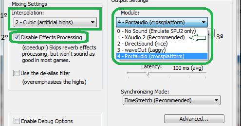 Melhor configuração do plugin Audio do PCSX2 do PS2