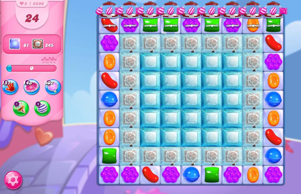 Candy Crush Saga level 5896