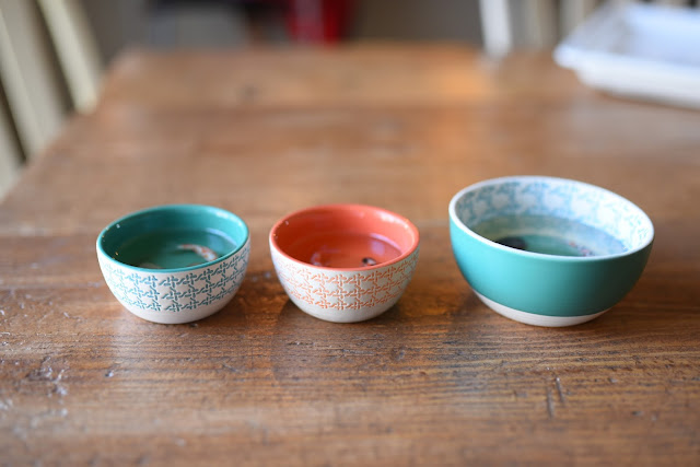 polymer clay Koiin bowls