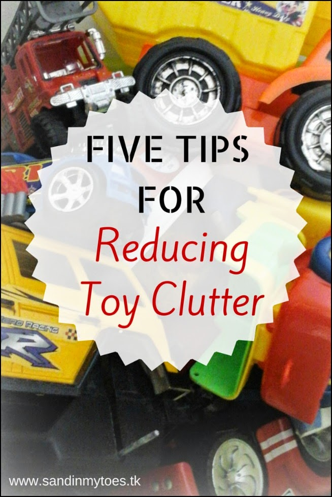 Five tips for reducing toy clutter