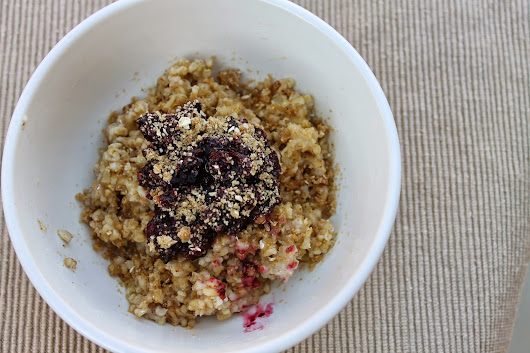 Steel Cut Oats with Berries & Brown Sugar Crumble