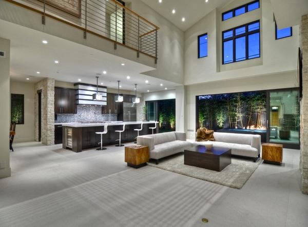 Dekorasi Ruang Tamu Modern Konsep Terbuka Model Desain