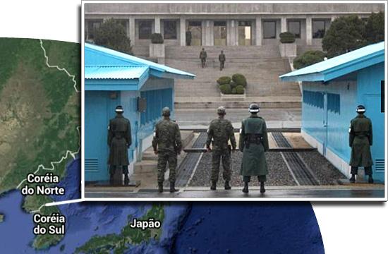 Fronteiras pelo mundo - Coréia do Norte e Coréia do Sul