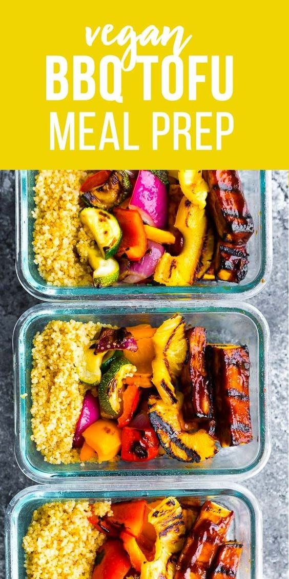 Pineapple BBQ Tofu Meal Prep