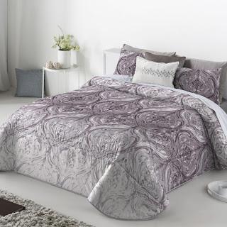 Colcha Bouti modelo Doria color Malva de Antilo Textil
