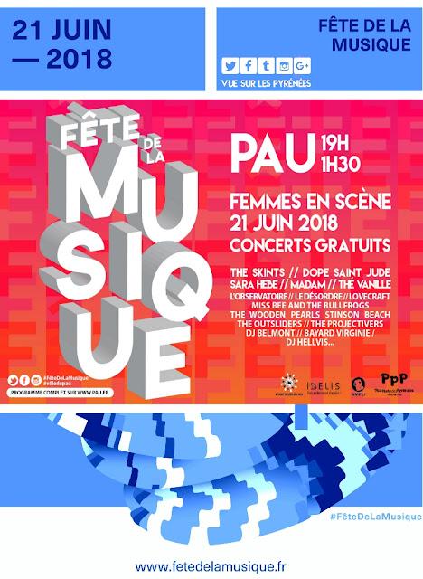 La Fête de la Musique de Pau 2018