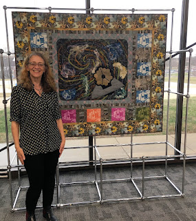 Luminosity, with Sue Reno, being installed at NASA Goddard Visitor Center
