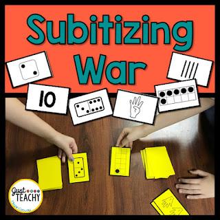 Subitizing War to practice number sense