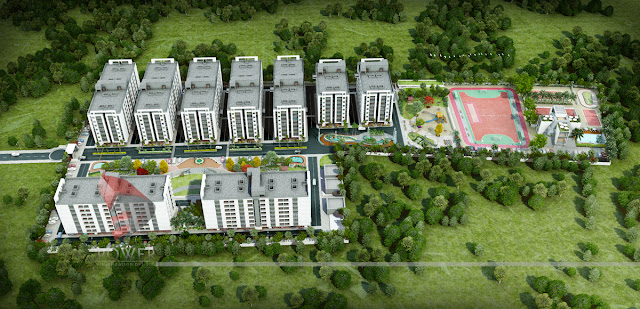 Birds Eye View Township Project 3D