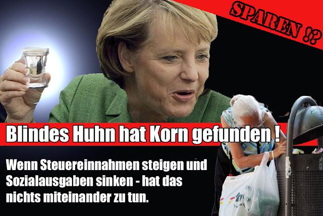 Lustige Satire Bilder Deutsch - Blindes Huhn hat Korn gefunden