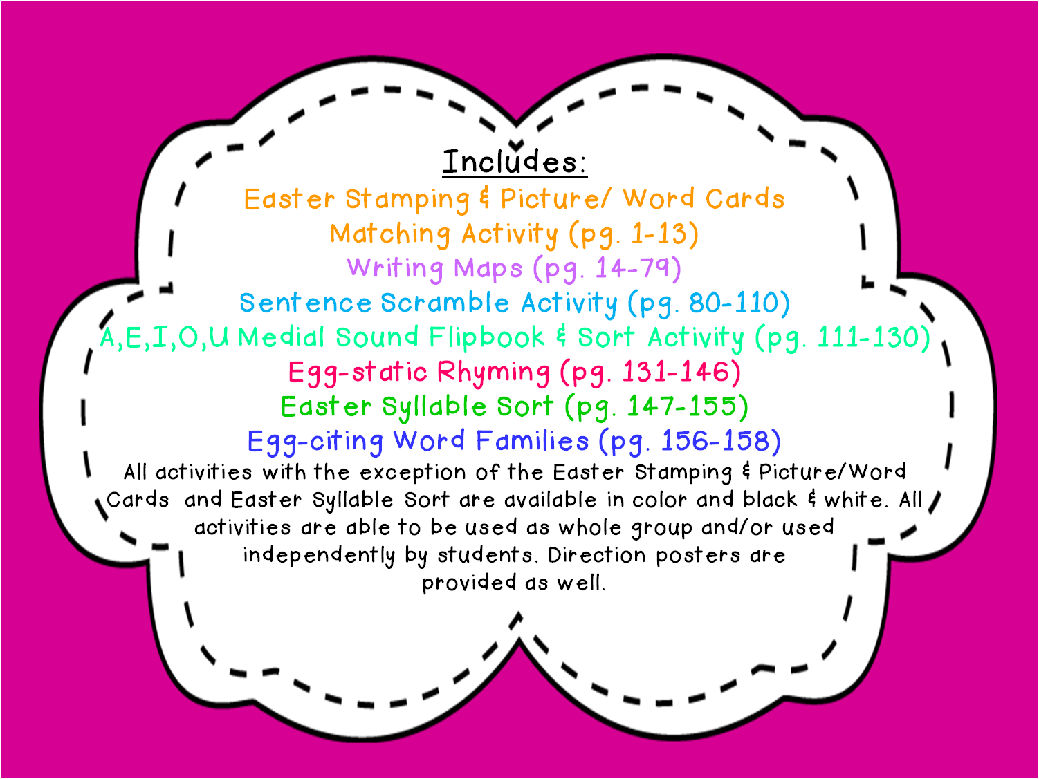 Lovely Literacy Amp More Hop N Easter Language Arts