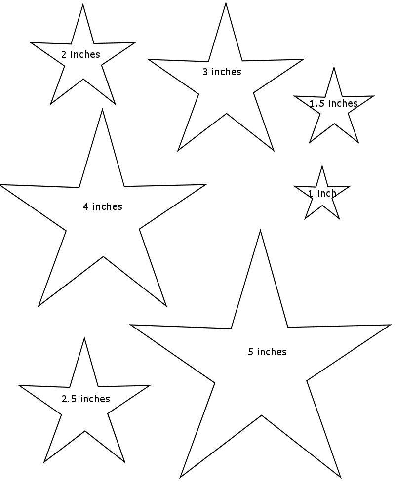 Different Size Stars Coloring Coloring Pages