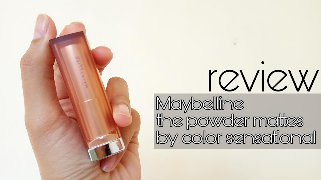 REVIEW] MAYBELLINE THE POWDER MATTES SHADE TOUCH OF NUDE