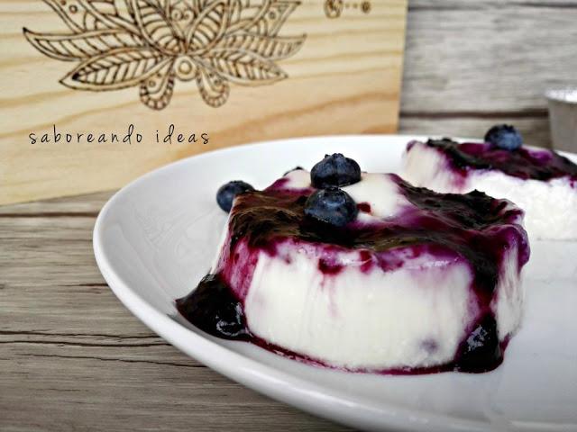 flan-de-quark-y-arandanos, blueberry-and-cheese-pudding