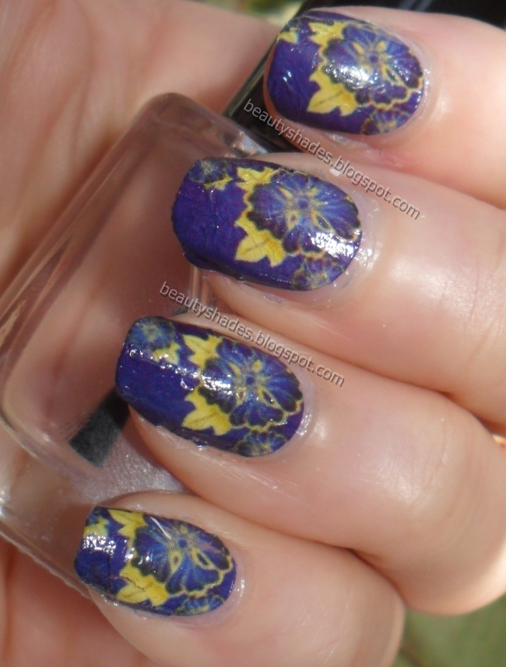 Nails Flower Water Decals