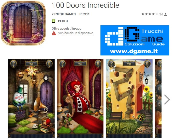 Soluzioni 100 Doors Incredible di tutti i livelli | Walkthrough guide