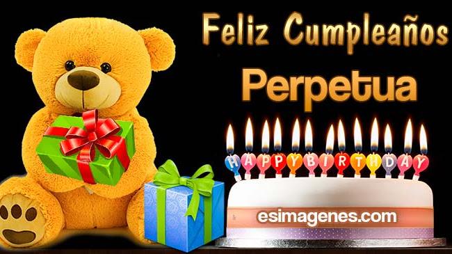 Feliz cumpleaños Perpetua
