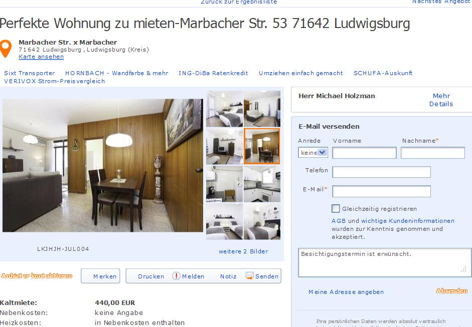 perfekte wohnung zu mieten informationen ber wohnungsbetrug. Black Bedroom Furniture Sets. Home Design Ideas