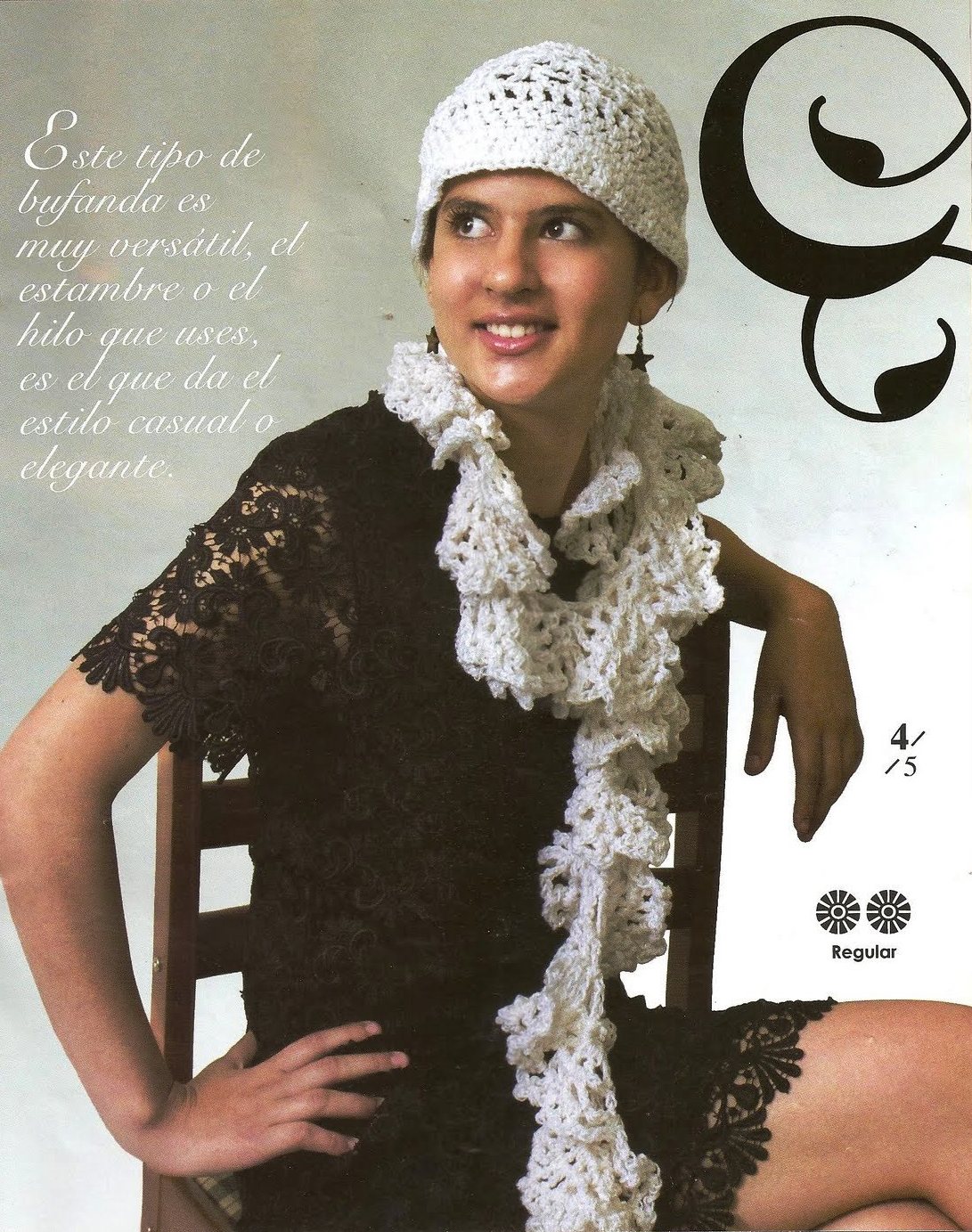 Conjunto Bufanda y Gorro Charleston Crochet