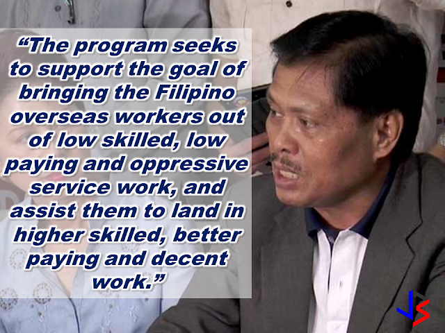 "The Technical Education and Skills Development Authority (TESDA) has announced that it is going to give an on-site assessment to overseas Filipino workers (OFWs) who are bound for the Middle East.  Secretary Guiling ""Gene"" Mamondiong, TESDA Director-General said that the Onsite Assessment Program (OAP) aims to find out if the OFWs possess the competencies required in a preferred work.  Mamondiong disclosed that a delegation from TESDA will go to the Middle East to conduct the onsite assessment in coordination with the Philippine Overseas Labor Offices (POLO).  The TESDA onsite assessment is scheduled at Comsofil in Riyadh; POLO, Dubai;  ICSA, Kuwait City and Total Care International in Jeddah. OFWs who are interested in the onsite assessment may visit the POLO in the scheduled areas. Jeddah and Dubai have already submitted a list of assessment candidates, Mamondiong said.  Workers may take the assessment in the following qualifications:   Riyadh:  Technical Drafting NC II;  Visual Graphics Design NC II  and Computer Systems Servicing NC II for    Dubai:  Technical Drafting NC II,  Visual Graphics Design NC III,  Massage Therapy NC II and Caregiving NC II.   Kuwait: Technical Drafting NC II  Visual Graphics Design NC III  Computer Systems Servicing NC II.   Jeddah:  Massage Therapy NC II   Caregiving NC II."