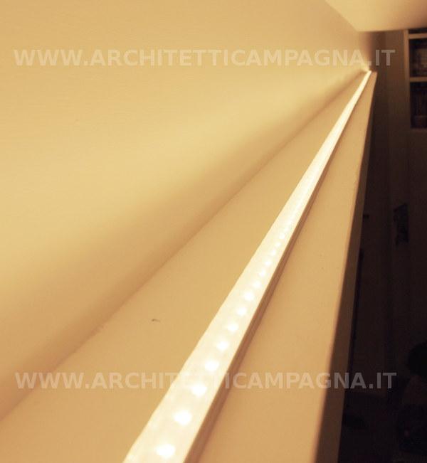 Diari di un architetto il controsoffitto in cartongesso e la gola luminosa - Neon sopra pensili cucina ...