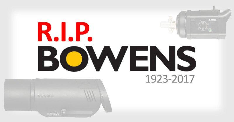 Компания Bowens прекращает свою работу