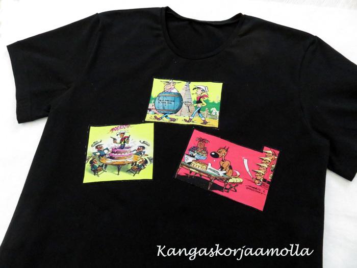 T-paita Lucky Luke kuvalla