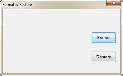 Format-Restore
